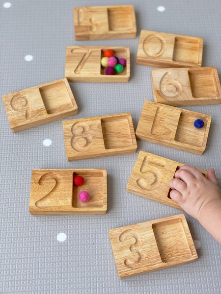 Number Tracing and Counting Boards