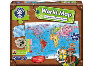 Orchard Jigsaw - World Map 150piece Puzzle & Poster