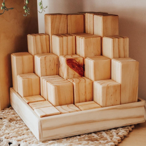 Natural Stepped Block Set - Pine
