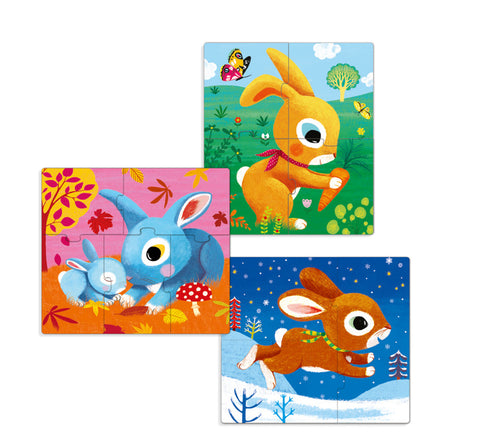 Rabbits 3,4 and 5 Piece Puzzle