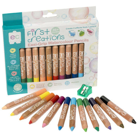 Easi-Grip Watercolour Pencils - Pack of 12