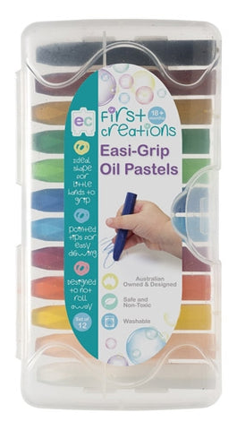 Easi-Grip Oil Pastels - Pack of 12
