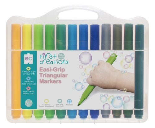 Easi-Grip Triangular Markers - Pack of 24