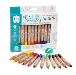 Easi-Grip Wooden Pencils - Pack of 12