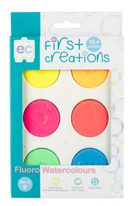 Fluoro Watercolours Set of 6