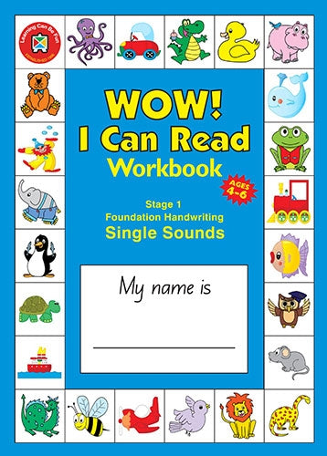 WOW I Can Read Workbook - Stage 1 - Foundation Font