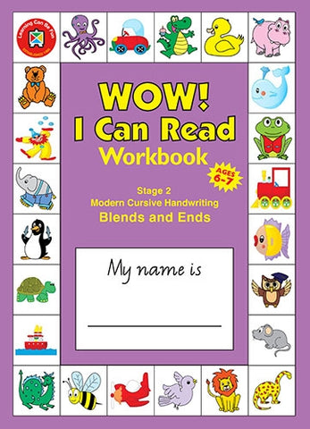 WOW I Can Read Workbook - Stage 2 - Modern Cursive Font