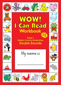 WOW I Can Read Workbook - Stage 3 - Modern Cursive Font