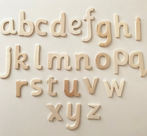 Mini Wooden Lowercase Alphabet