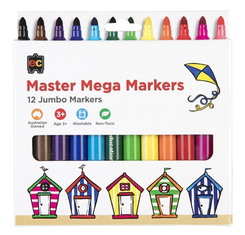 Master Mega Markers Packet of 12