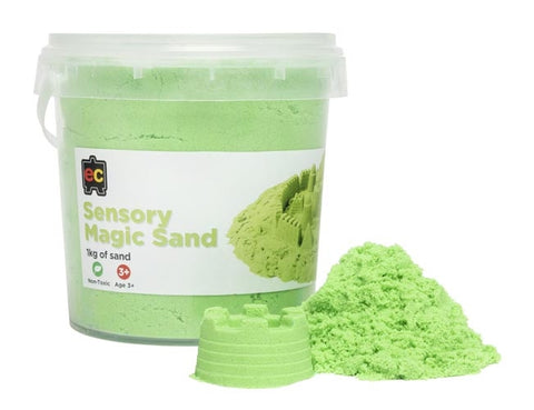 Sensory Magic Sand - 1kg Green