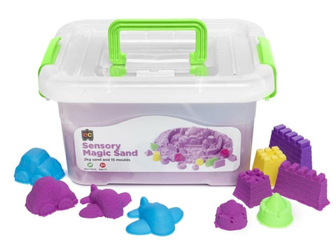 Sensory Magic Sand with Moulds - 2kg Orange