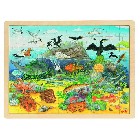 Over and Under Water - 96 Piece Wooden Puzzle