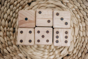 Natural Wooden Dice