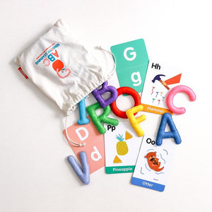 ABC Sensory Learning Felt Letters & Flashcards (Uppercase)
