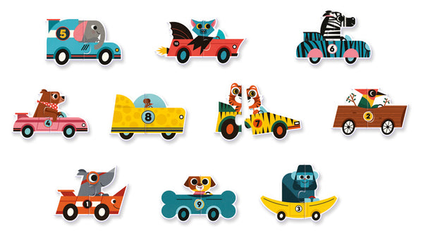 Duo Racing Cars 20pc Puzzle