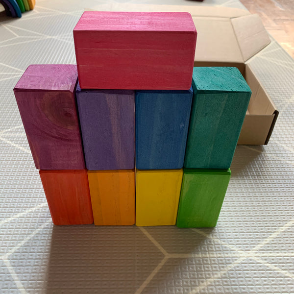Small Mixed Block Bundle - Square Prism Blocks and Cylinder Blocks
