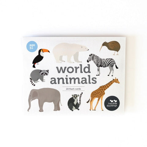 World Animal Flash Cards
