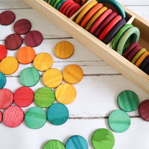 Rainbow Wooden Coins (48)
