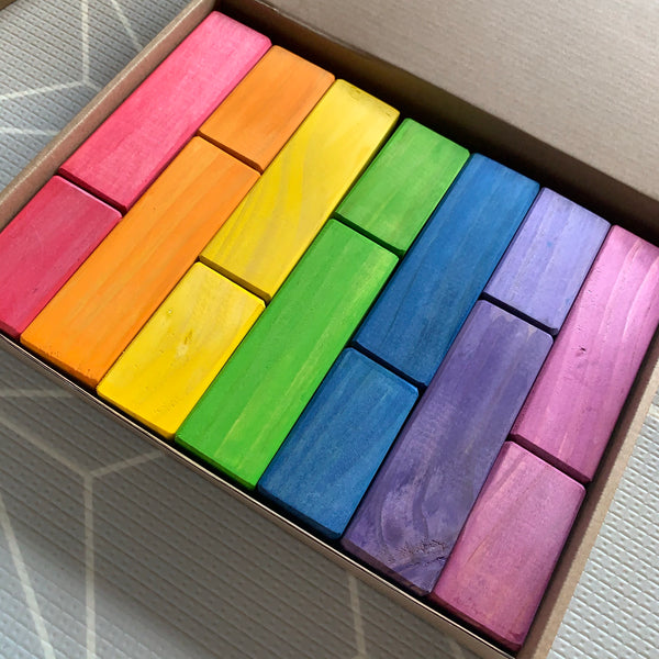 Large Mixed Block Bundle - Mixed Cylinder and Square Prism Blocks