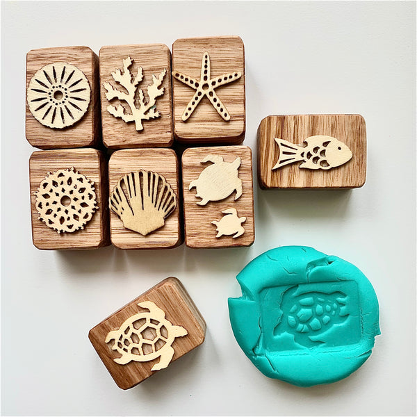 Coral Reef Playdough Stampers