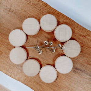 Natural Wooden Coins