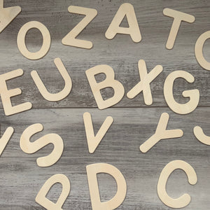 Wooden Uppercase Alphabet