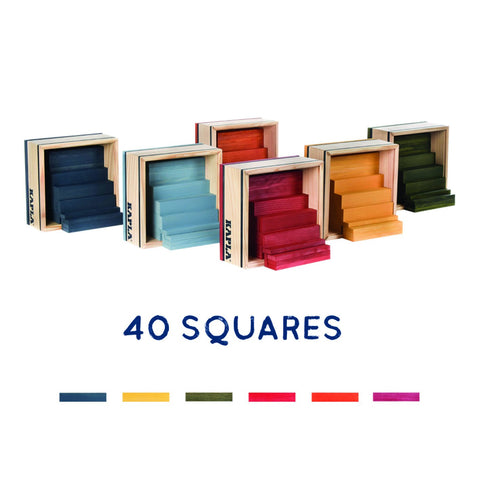 Kapla Colours - 40 Pieces in a Box