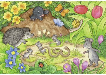 Ravensburger - Animals in the Our Garden Puzzle 2 x 12 Piece