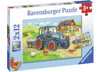 Ravensburger - Hard at Work Puzzle 2 x 12 Piece