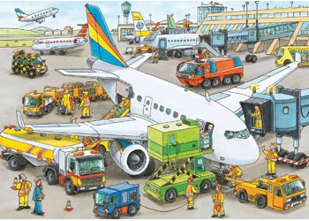 Ravensburger - Busy Airport Puzzle 35 Piece
