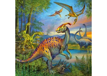 Ravensburger - Dinosaur Fascination Puzzle 3 x 49 Piece