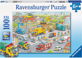 Ravensburger - Vehicles in the City Puzzle 100 Piece