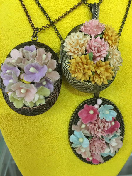 Paper Flower Locket