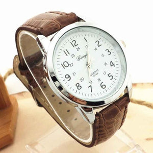 2017 mens fashion watches relojes hombre Elegant Analog Luxury geneva watches men PU Leather Strap Quartz Mens Wrist Watch