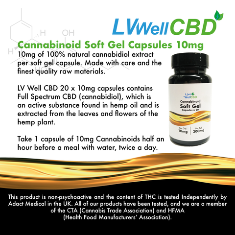 Live Well CBD – Raw – Soft Gel Capsules