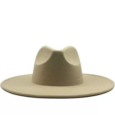 "BIG BRIM FEDORA ""CREAM"""