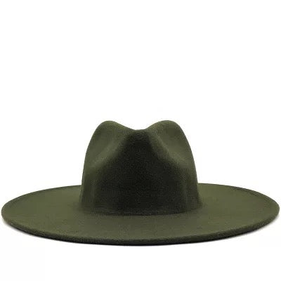 "BIG BRIM FEDORA ""GREEN"""