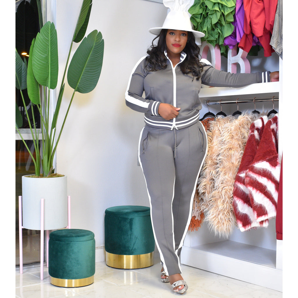 "IVY LEAGUE JOGGER SET ""GREY"""