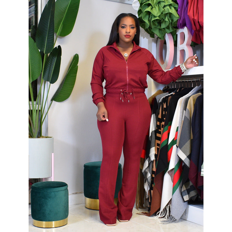 "DUCHESS TRACK SUIT ""MAROON"""