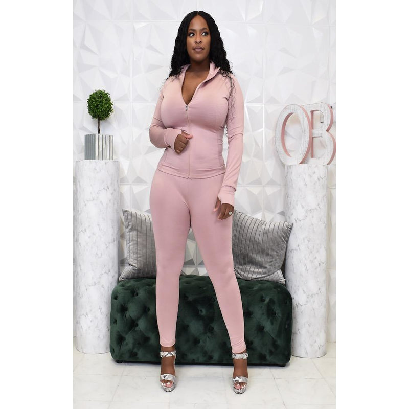 "LAVISH JOGGER SET ""DUSTY PINK"""