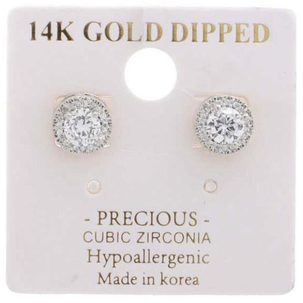 14K GOLD DIAMOND STUDS EARRING