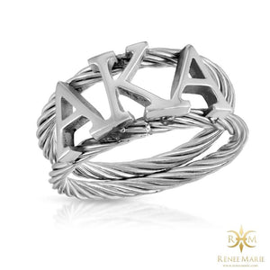 AKA Symbols Rope Ring (Stainless Steel)