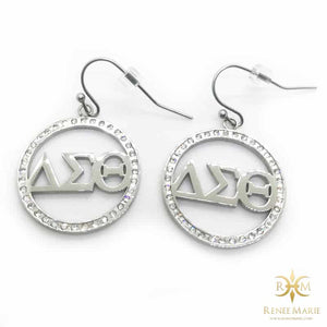 DST Symbols Circle Earrings (Stainless Steel)