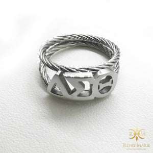 DST Symbols Rope Ring (Stainless Steel)