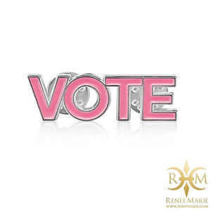 VOTE Lapel Pin - Pink