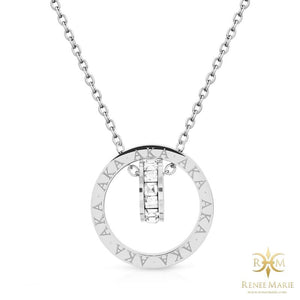 "AKA ""Eternity"" Necklace & Earrings Set (Stainless Steel)"