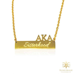 AKA Symbols Bar Necklace (Stainless Steel)