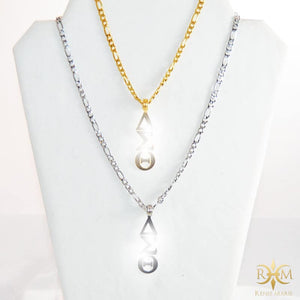 DST Vertical Symbols Figaro Necklace