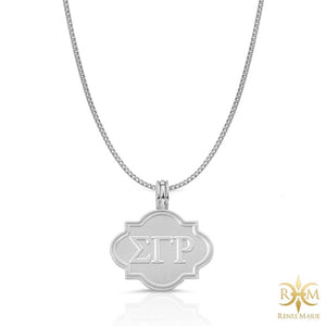ΣΓΡ Frame Pendant with Chain
